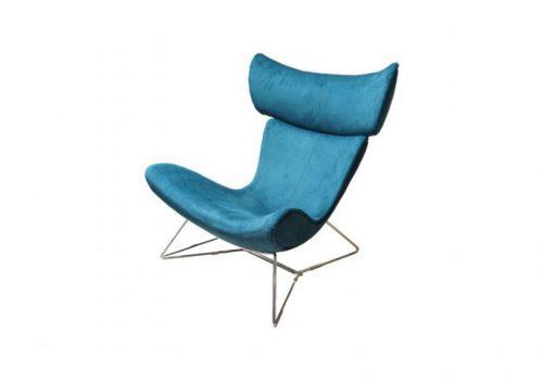 armchair design blue
